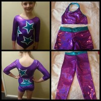 purple star leotard
